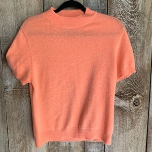 100% Cashmere Peach Short Sleeved Shirt